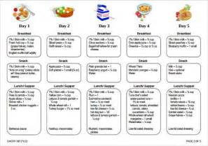 daycare menu templates daycare menu template best template idea
