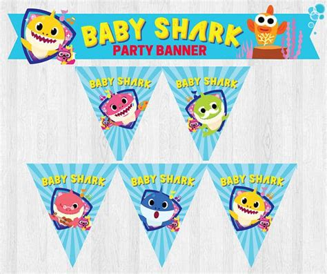baby shark birthday theme pinkfong baby shark under the sea party banner happy