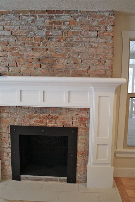 Fireplace Mantels On Brick by 25 Best Ideas About Exposed Brick Fireplaces On