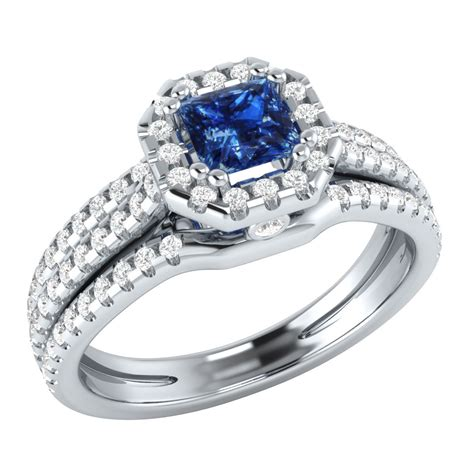 Blue Sapphire 9 95 Ct 0 95 ct real blue sapphire 14k white