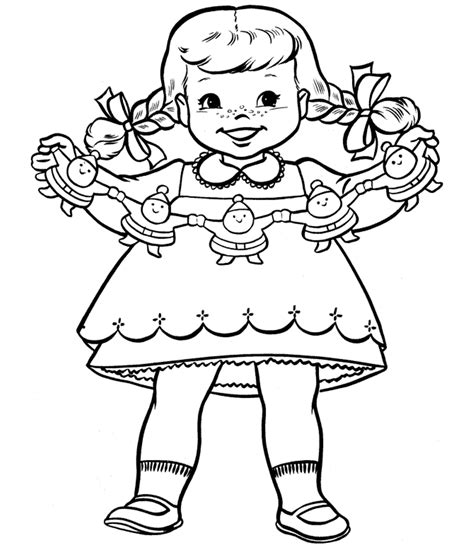 christmas coloring pages for little girls coloring pages