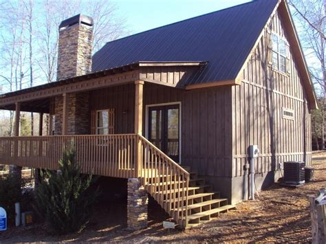 board and batten cabin plans little river cabin traditional exterior atlanta by
