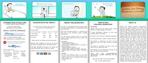 personable feminine brochure design for asthma salt
