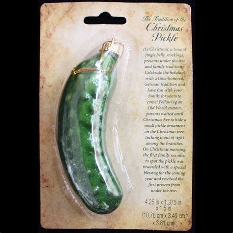 retro german holiday tree christmas pickle ornament game