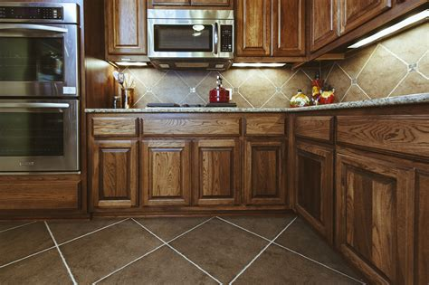 brown kite shape tile floor combined with brown wooden