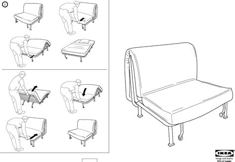 lycksele sofa bed instructions download ikea lycksele frame chair bed assembly