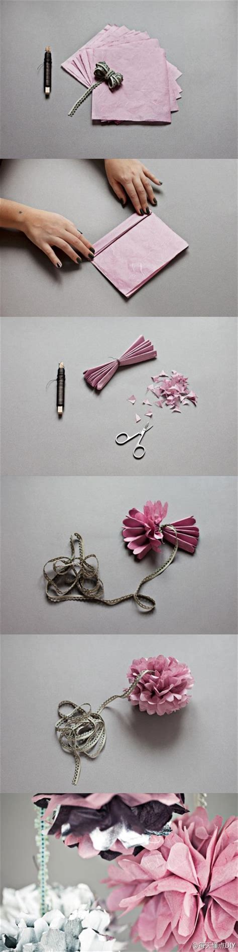Do It Yourself Paper Crafts - paper napkin flowers dump a day