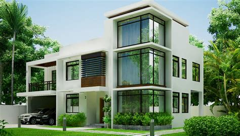 two storey modern residential building build a building latest home designs