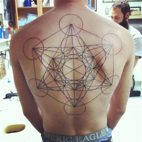 tattoo geometric back sacred geometry back tattoo best tattoo design ideas