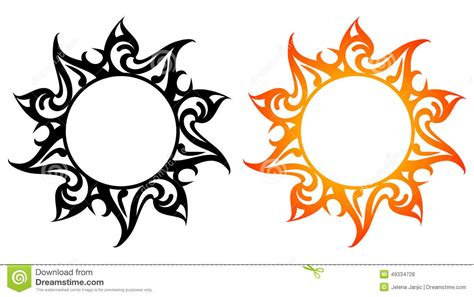 vector ornaments abstract sun fire stock vector image