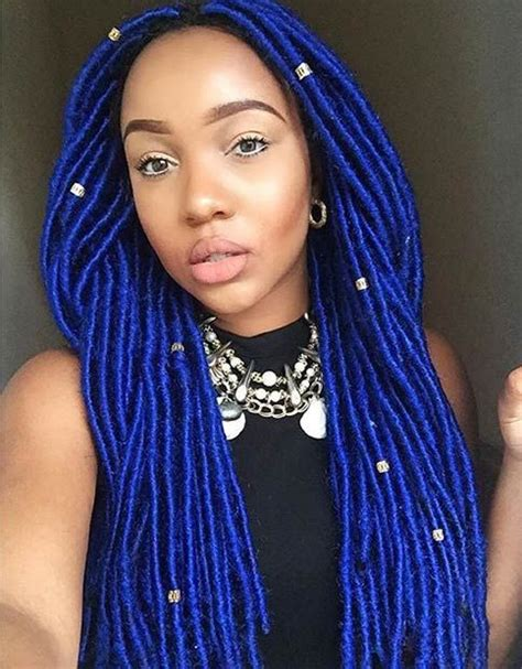african american yarn braided styles faux locs african americans and navy blue on pinterest
