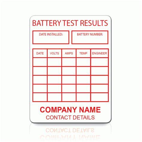 Testi Customer buy custom battery test labels label bar