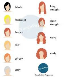 hair style esl vocabularypage beauty salon vocabulary