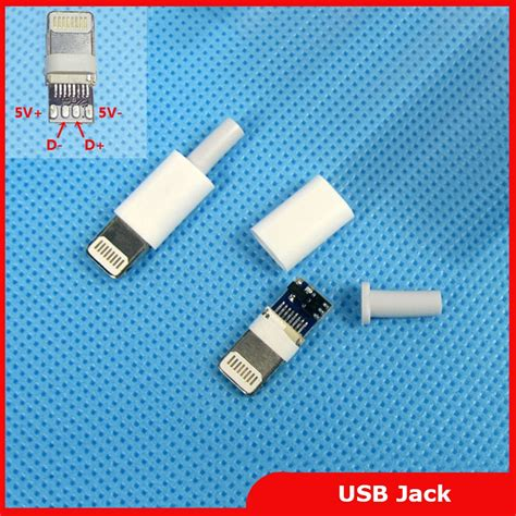 lighting to 3 5 adapter free shipping micro usb lighting connector 8pin male plug