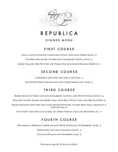 free new year menu template new years menu letter new year s menus