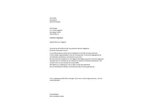 Cv Sjabloon Intermediair Open Sollicitatiebrief Voorbeeld