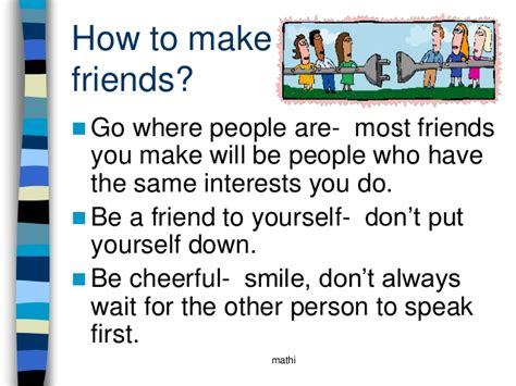 How To Make Friends In Mba friendship ppt presentation by mathi