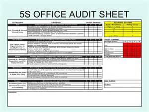 5 s office audit sheet
