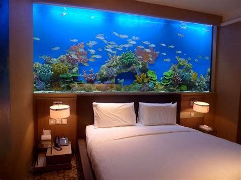 hotel room with aquarium wall substantial home decor with bedroom aquariums