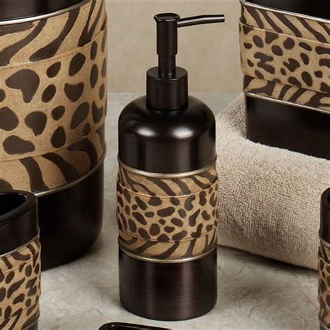 leopard print bathroom sets cheshire animal print bath accessories