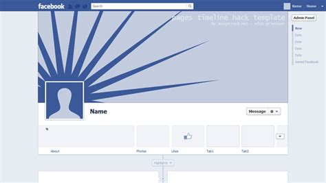 facebook pages timeline template for photoshop