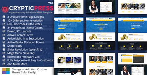 Cryptic Press Crypto Currency Digital Currency Bitcoin Html5 Template Nulled Download Cryptocurrency Html Template Free