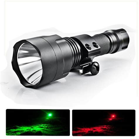 best night hunting light scope mounted lights for night hunting red and green