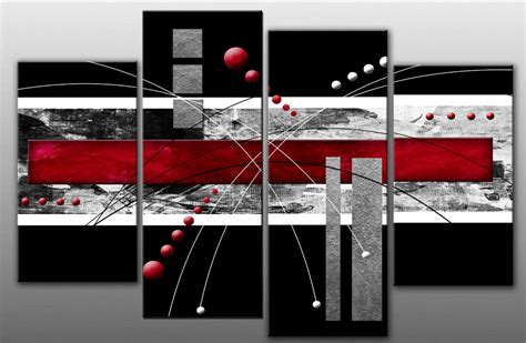 creating a split material wall large red black grey abstract canvas picture wall art