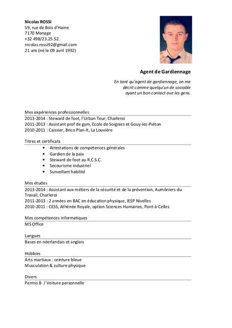 Présentation Lettre Commerciale Anglais Cv 2014 Nicolas 1