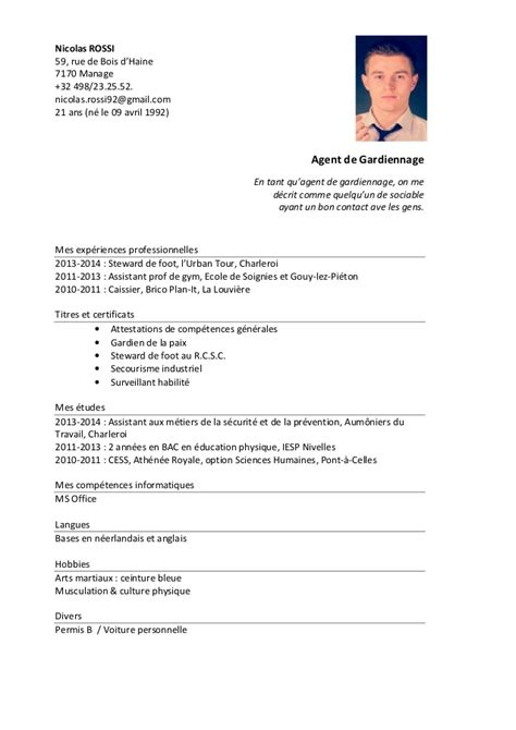 sle cv for kitchen steward cv 2014 nicolas rossi 1