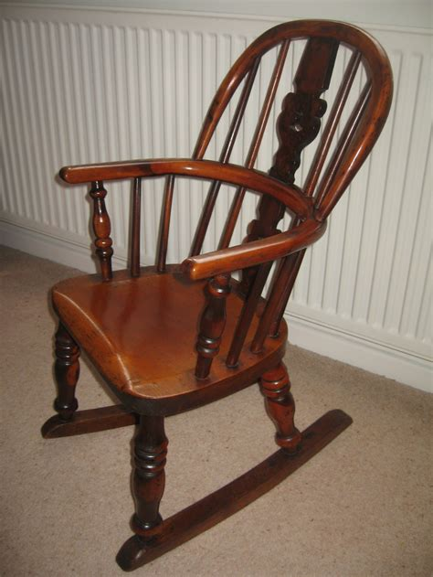 antique childs rocking chair uk antique child yew wood rocking chair 255434
