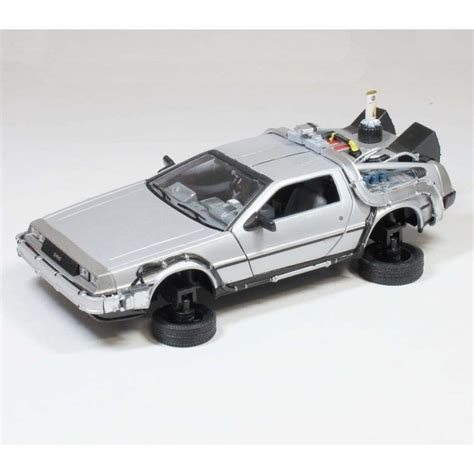 back to the future 1 delorean back to the future part 2 flying mode die cast model car