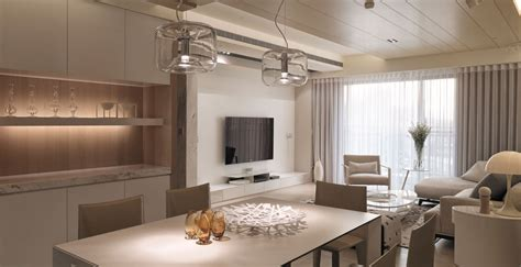 living spaces design neutral contemporary apartment by w c h design studio