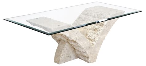 Fab And Charming Rectangular Glass Top With White Stone Base For Glass Top Coffee Table