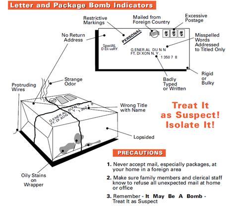 fbi bomb data center letter and package bomb indicators