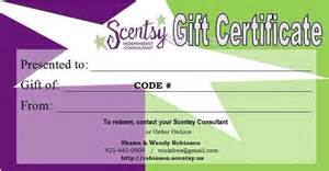 scentsy gift certificates