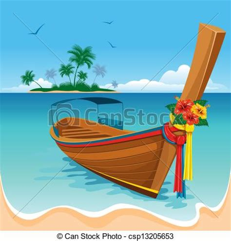 thai boat drawing phuket clipart clipground