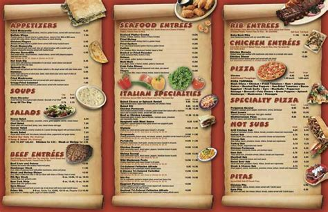 5 best images of create a restaurant menu printable