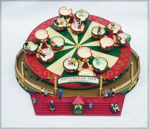 mr christmas nottingham fair mr spinning tea cups musical in box with adaptor nottingha
