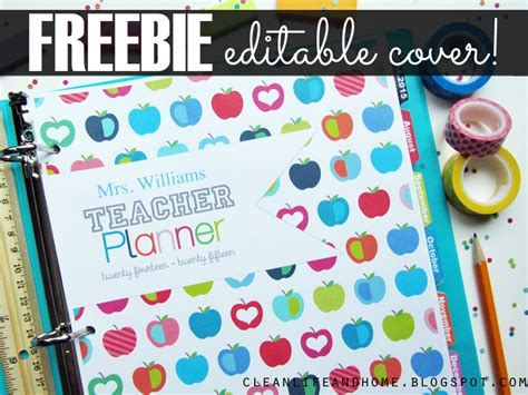 life planner cover printable clean life and home freebies