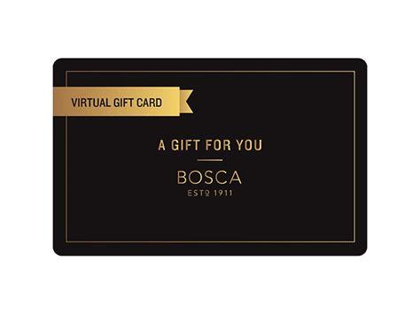 Send Virtual Gift Card - bosca virtual gift card bosca