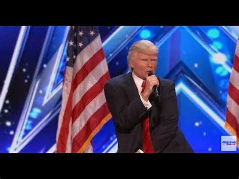 donald trump america got talent singing donald trump wows america s got talent judges