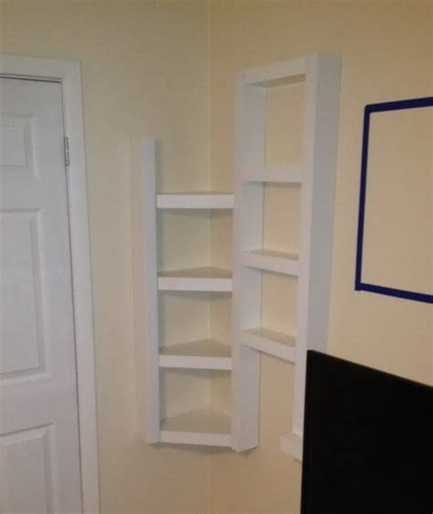 How To Build Simple Corner Wall Shelving Yourself Diy How To Make Corner Shelves