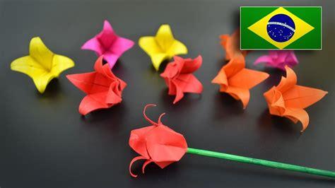 Flor Origami - origami flor tulipa instru 231 245 es em portugu 234 s br