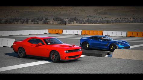 Forza 6 Schnellstes Drag Auto by Corvette Vs Challenger Hellcat Drag Race Html Autos Post