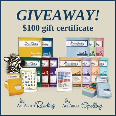 Gift Certificate Giveaway - win 100 gift certificate to all about learning press