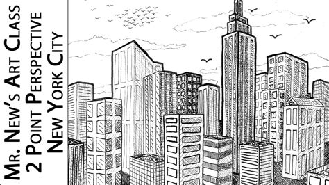 new york drawings 0571326919 viewer request drawing new york city 2 point perspective tutorial how to draw 3d spaces