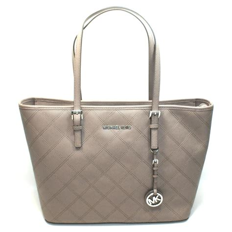 Michael Kors Jet Set Travel Leather Tote Bag Cinder
