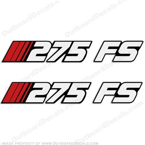 stratos boat decals for sale stratos 275 fs fish ski boat decals set of 2