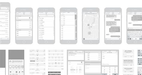 storyboard template app 50 free wireframe templates for mobile web and ux design